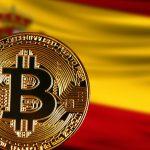 Bitcoin e Bandeira da Espanha