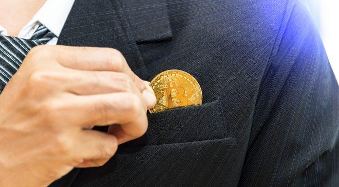 Colocando Bitcoin no Bolso empresário bilionário investidor compra