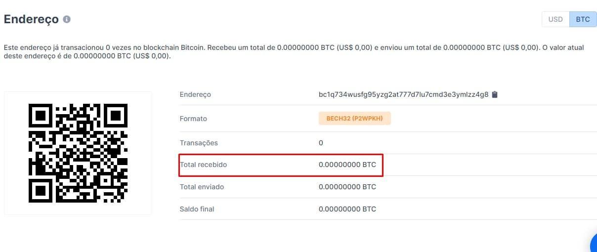 Endereço de Bitcoin usada para vaquinha de sete de setembro não recebeu nenhum satoshi