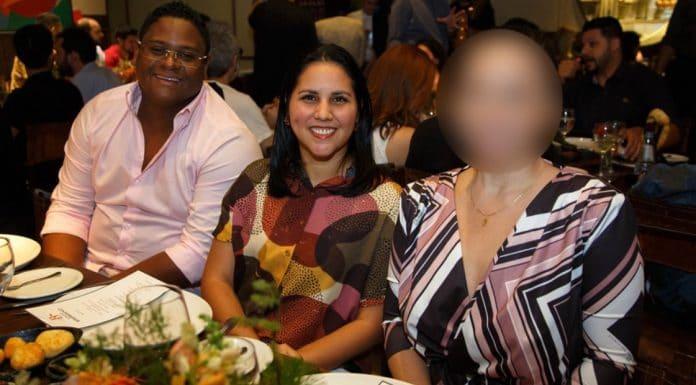Glaidson dos Santos com esposa Mirelis Zerpa