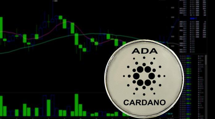 Gráfico de preço da Cardano (ADA) em alta