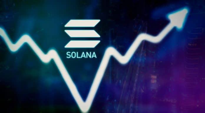 Gráfico de preço da Solana