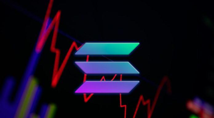 Gráfico de preço da Solana SOL queda baixa hacker