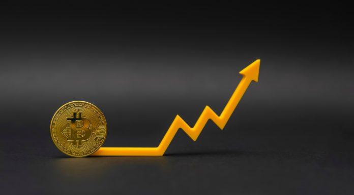 Gráfico de preço do Bitcoin para cima alta valorização