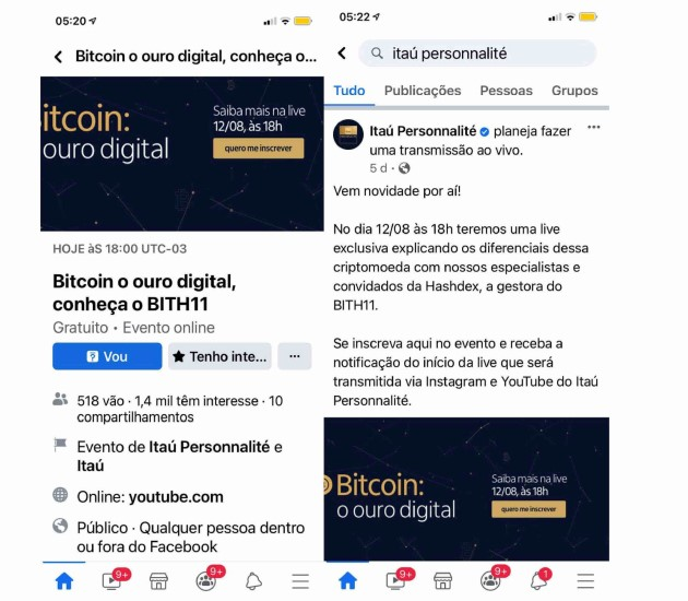 Itaú tem organizado eventos sobre produtos com Bitcoin