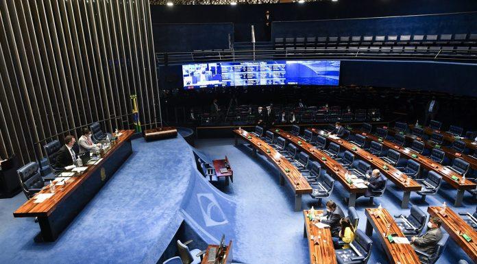 Plenário do Senado Federal em sessão no dia 19 de agosto de 2021