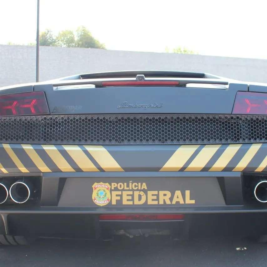 Traseira da Lamborghini da Polícia Federal