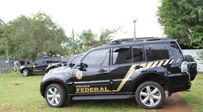 Viatura da PF Polícia Federal operação Bitcoin pirâmide
