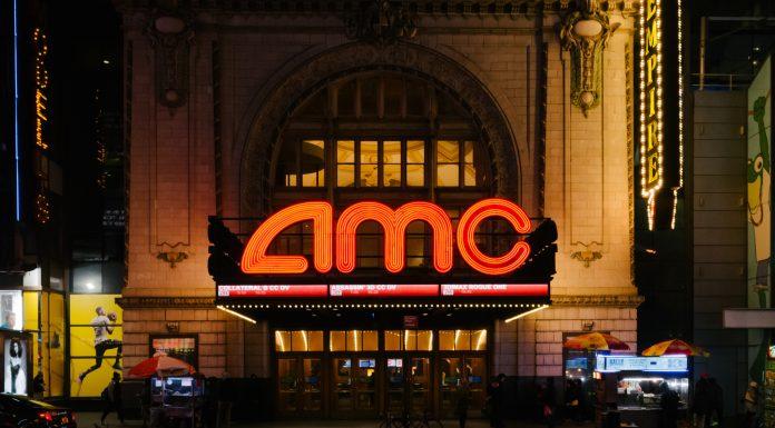 Vista do teatro AMC Empire em Manhattan cinema Bitcoin
