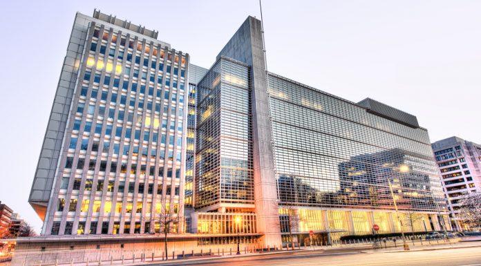 Entrada da sede do Grupo Banco Mundial