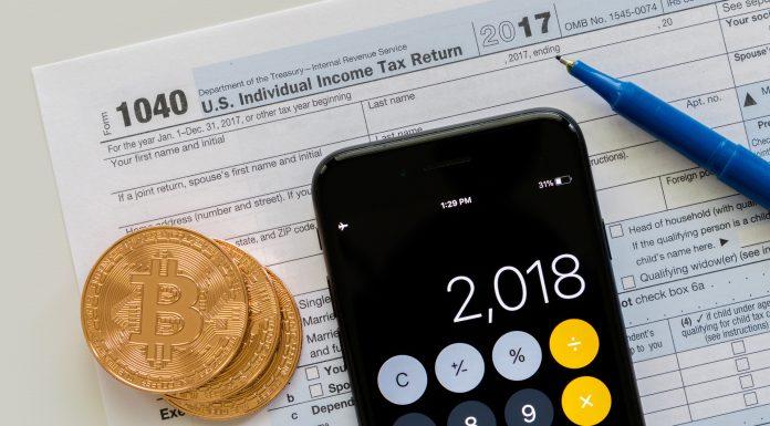 Ficha e calculadora para trader de Bitcoin pagar impostos