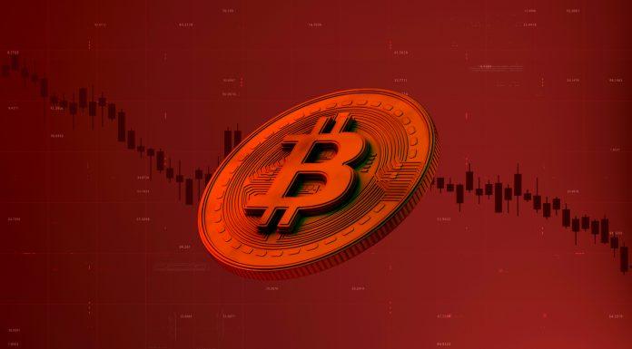 Gráfico de preço do Bitcoin em queda cotação despenca caiu porque hoje