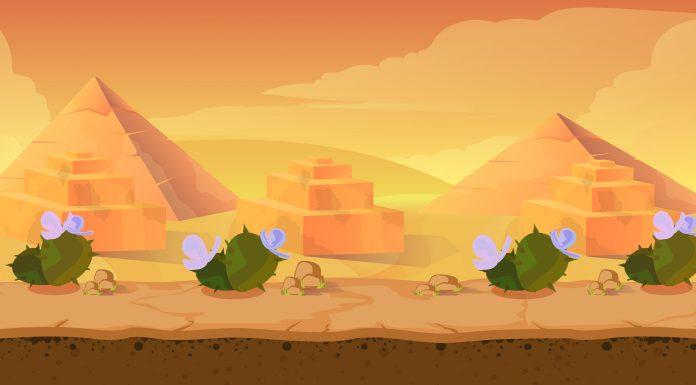 Jogo de deserto e pirâmides