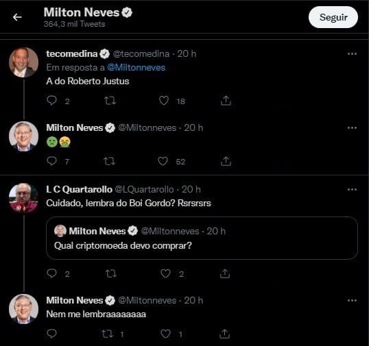 Quais projetos de criptomoedas Milton Neves vai evitar