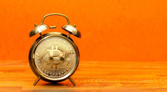 Relógio do Bitcoin blocos